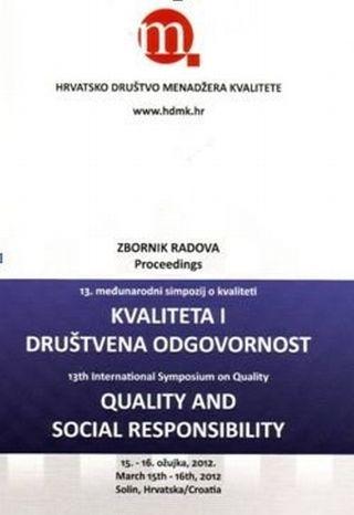 KVALITETA I DRUŠTVENA ODGOVORNOST, zbornik radova